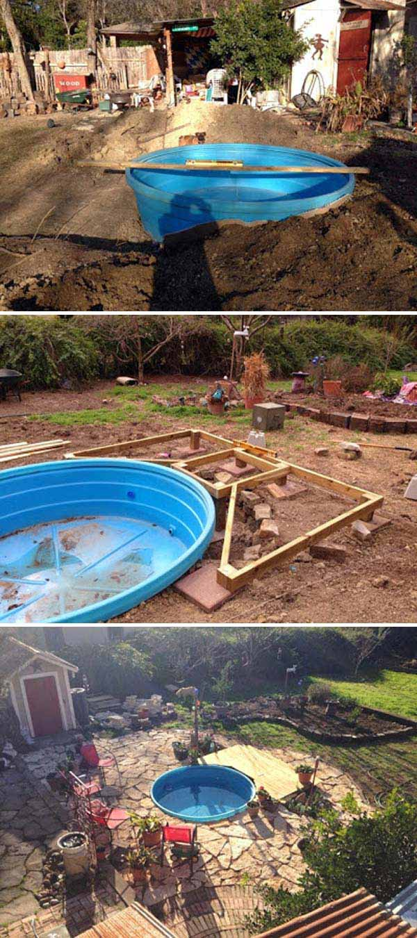 Diy Galvanized Stock Tank Pool To Beat The Summer Heat Amazing Diy Interior Home Design