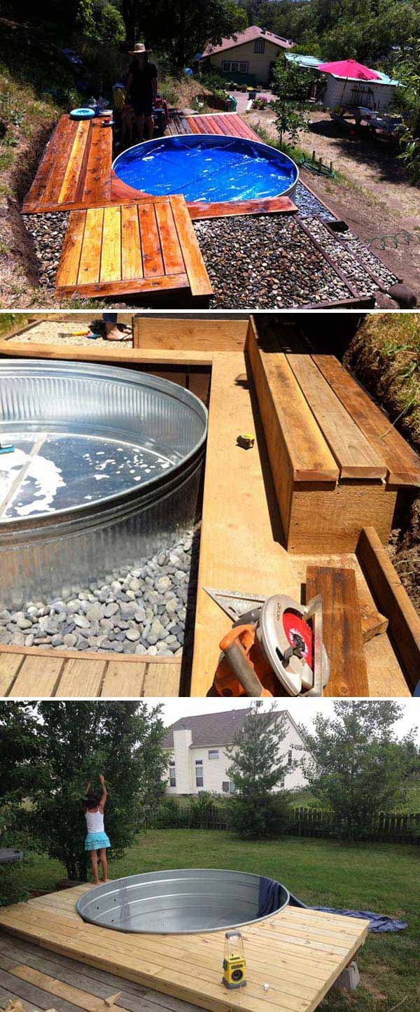 How To Build A Deck Around A Round Pool