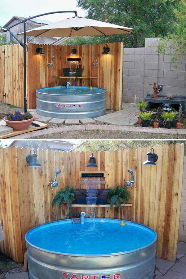 Diy galvanized stock tank pool to beat the summer heat - Building a swimming pool yourself ...