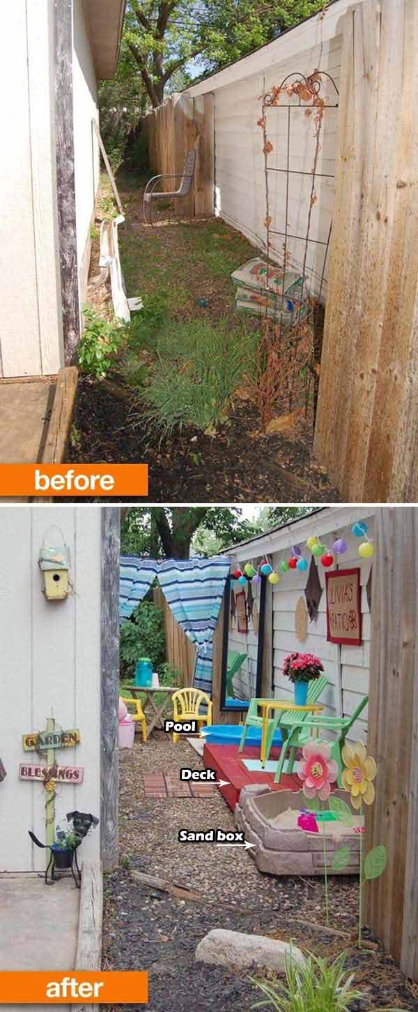 Awesome Ideas To Use Your Narrow Side Yard - Amazing DIY ... on Narrow Yard Ideas id=40359