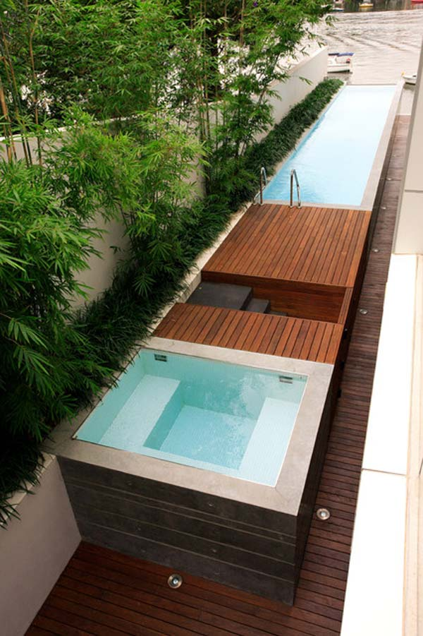 Awesome ideas to use your narrow side yard amazing diy for Narrow pools