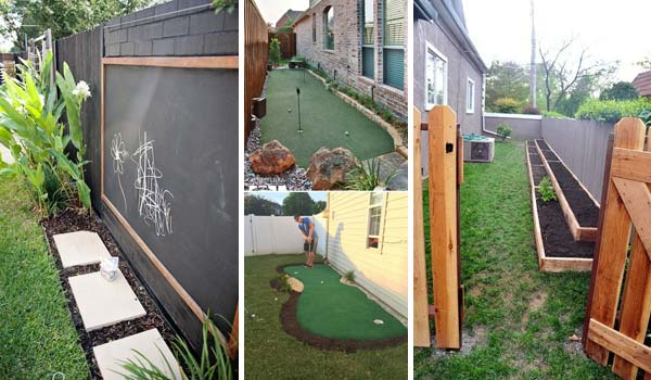 Awesome Ideas To Use Your Narrow Side Yard Amazing DIY Interior Cool Narrow Backyard Ideas Set