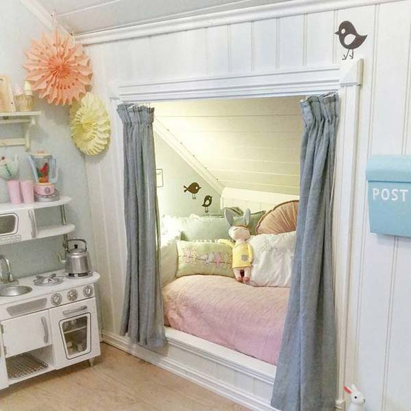 22 charming alcove bed designs that you must see amazing for Bed nook ideas