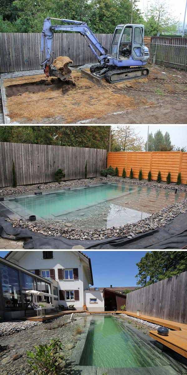 24 backyard natural pools you want to have them immediately amazing diy interior home design Natural swimming pool builders