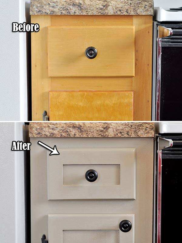 Medium image of fun and inexpensive idea to upgrade your outdated kitchen cabinet