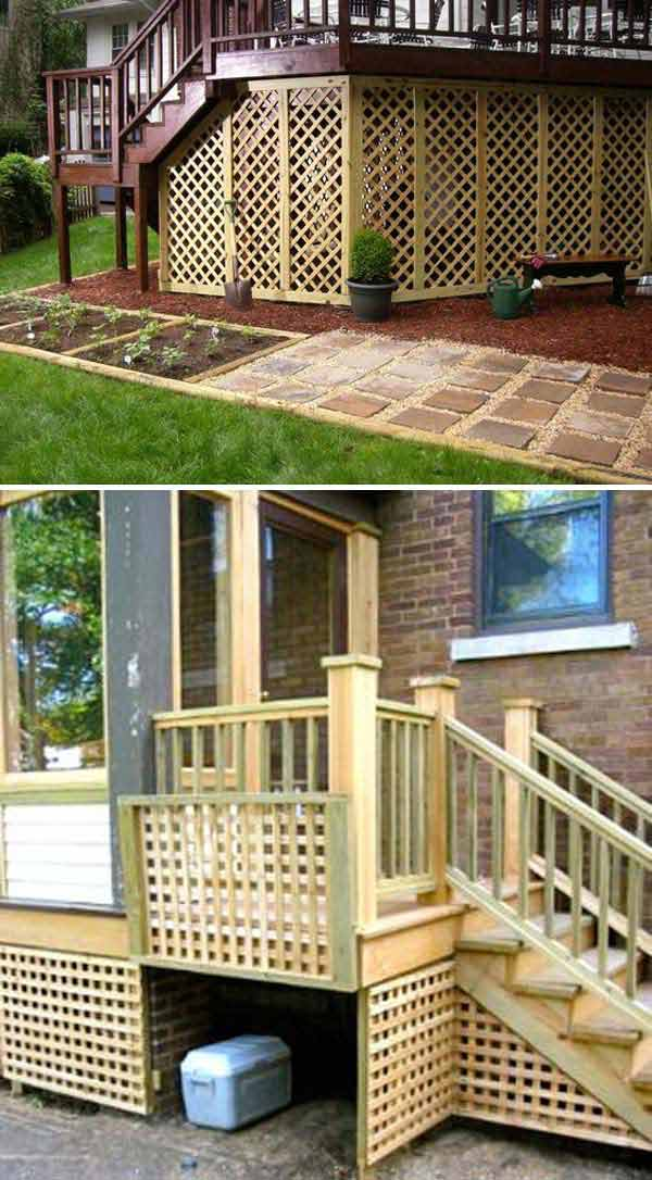 Incroyable Add Lattice To The Bottom Of A Deck To Hide The Ugly Under The Deck And  Create A Secure Storage Place.