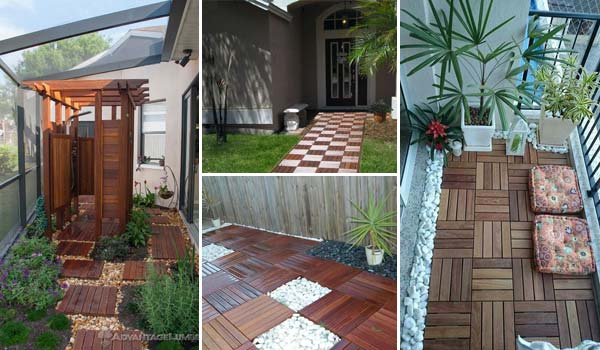 15 Perfect Ways to Decorate Outdoor Space with Wooden Tiles