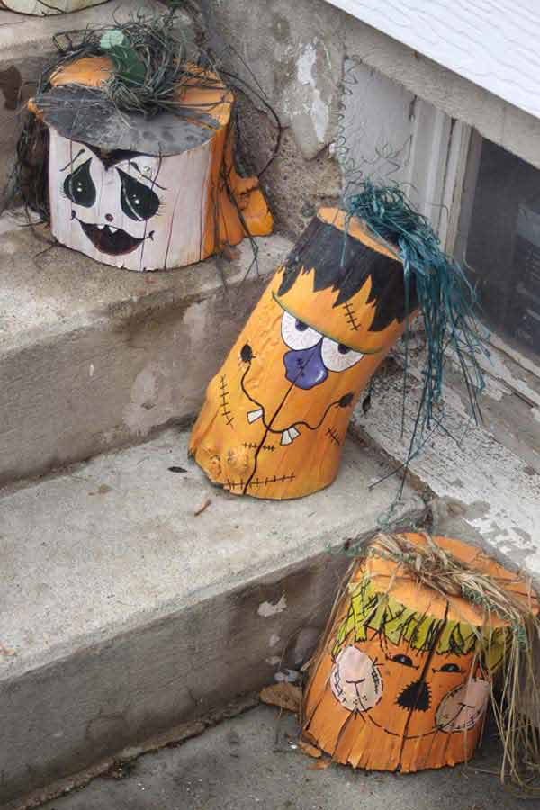 halloween decorations made out of recycled wood 4