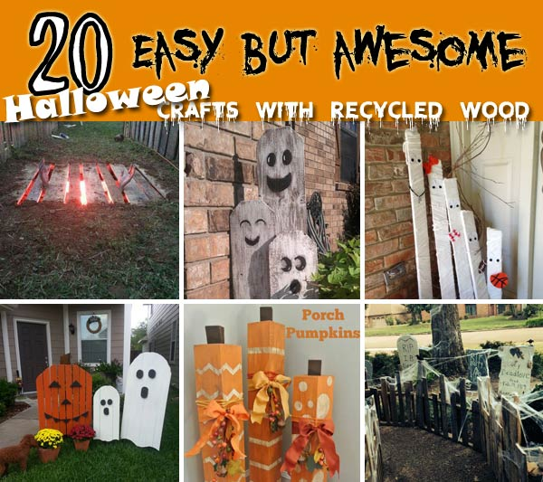 20 halloween decorations crafted from reclaimed wood - Halloween Decorations Images