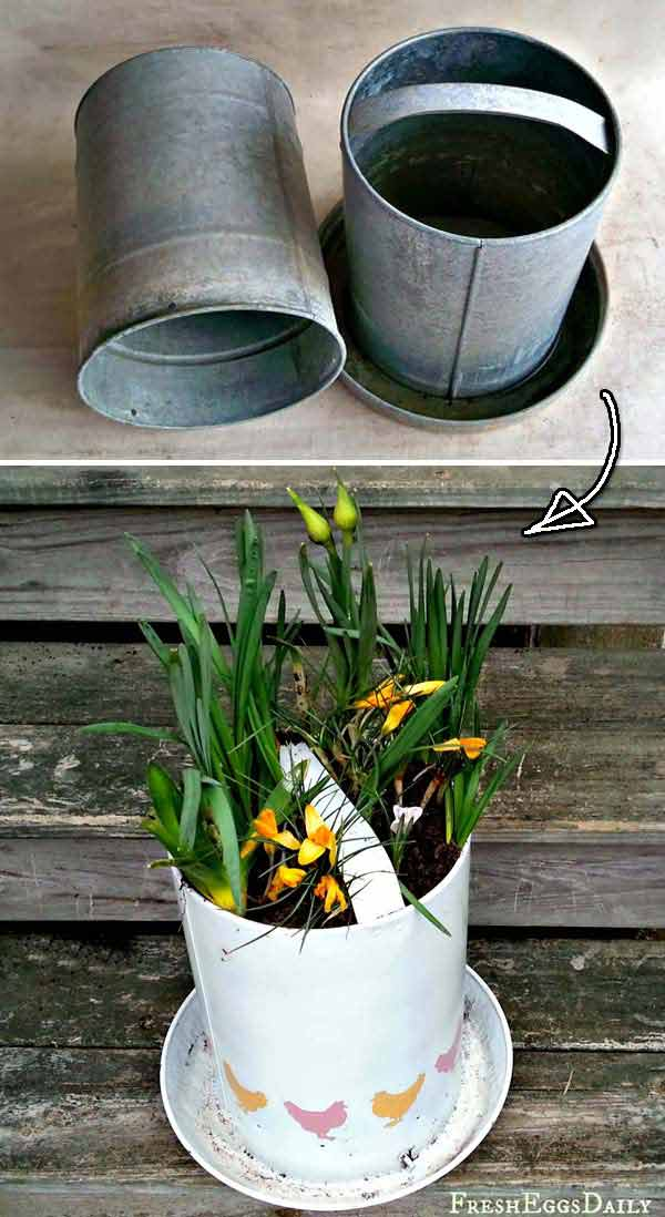 Repurposed Items For Garden