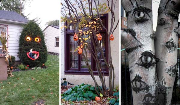 Halloween Yard.Top 21 Creepy Ideas To Decorate Outdoor Trees For Halloween