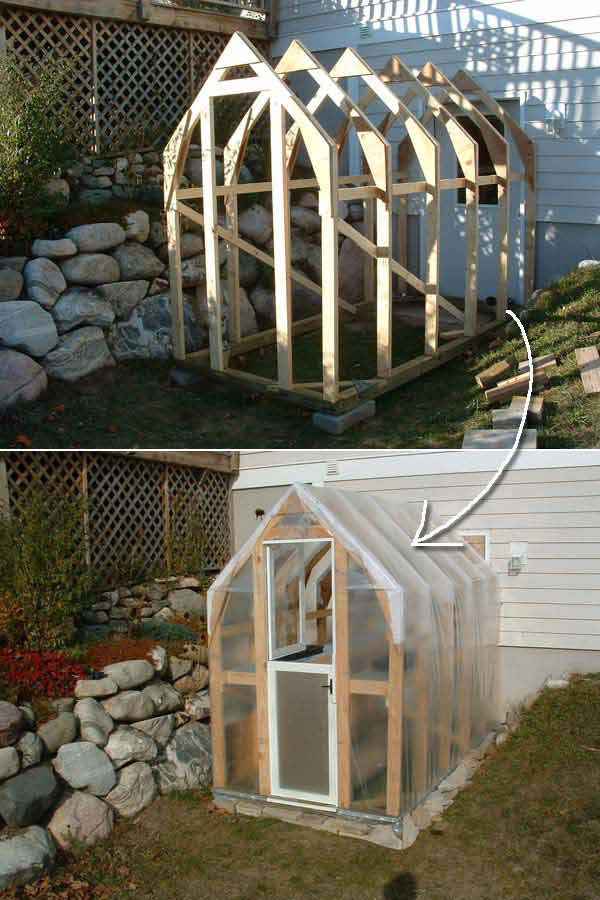 Build Small Greenhouse 13 Handmade Greenhouse Would Fit Well In A Small Yard