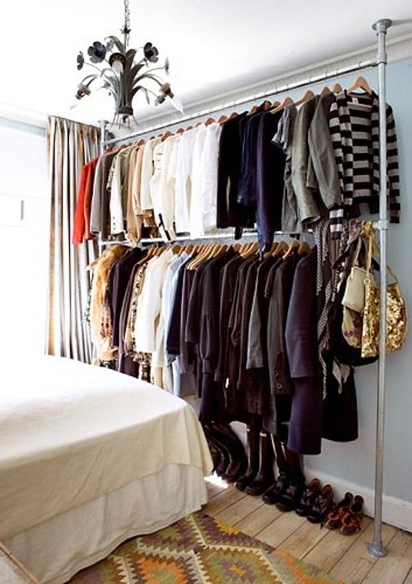 low-cost diy closet for the clothes storage - amazing diy, interior Diy Clothes Storage