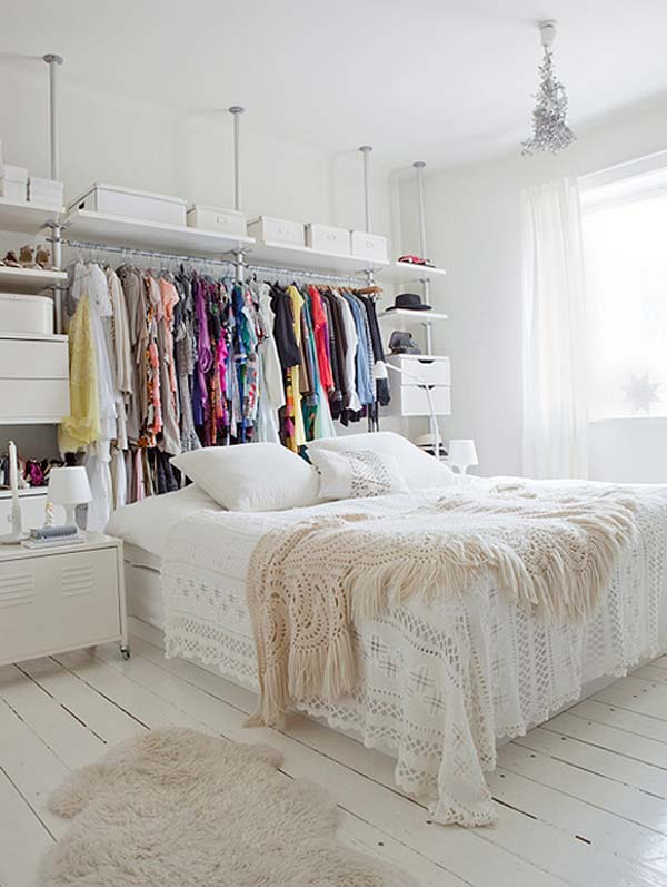 Perfect If You Are Tired Of Your Boring Headboard, Why Not Trying This Cool Clothes  Storage Behind Your Bed.