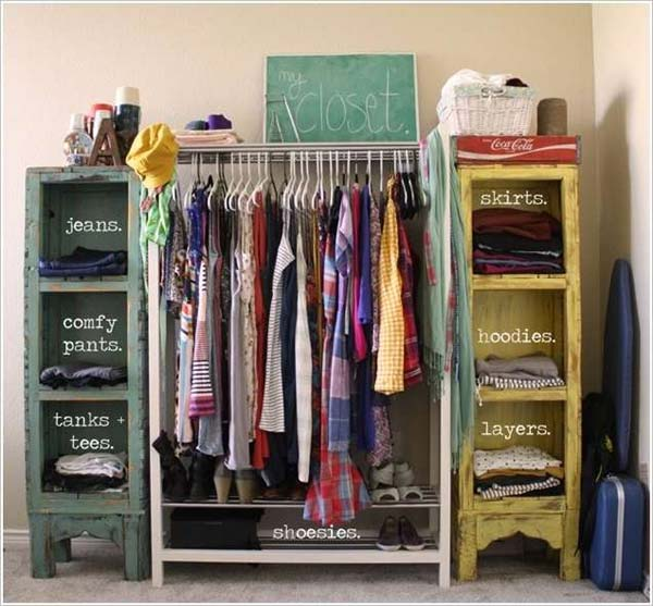 Combine Some Shelves That Can Be Found In Any Thrift Shop. Diy Closet Ideas  10