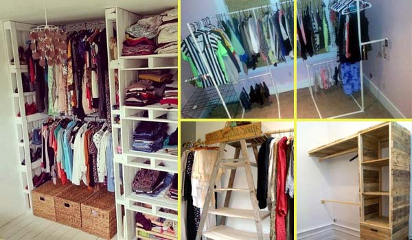 low cost diy closet for the clothes storage amazing diy interior home design. Black Bedroom Furniture Sets. Home Design Ideas
