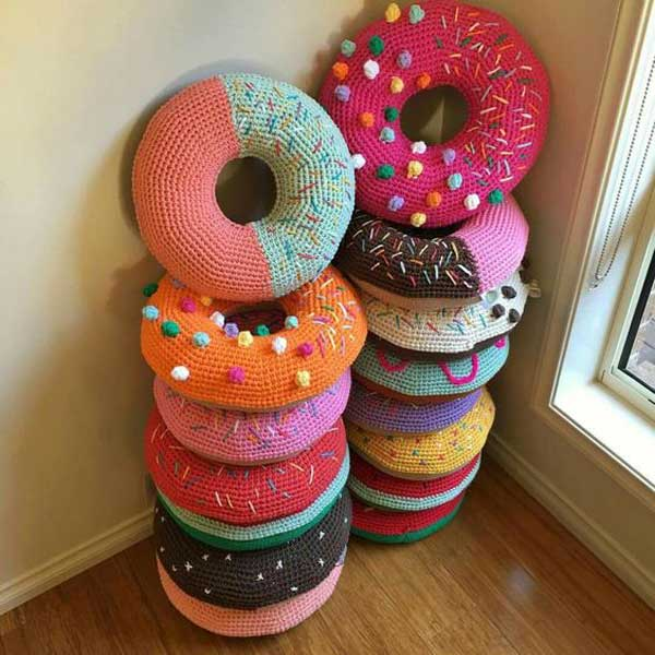 Crochet Donut Pillow : You Can Get it from: flamingpot.com.au Get similar free pattern ...