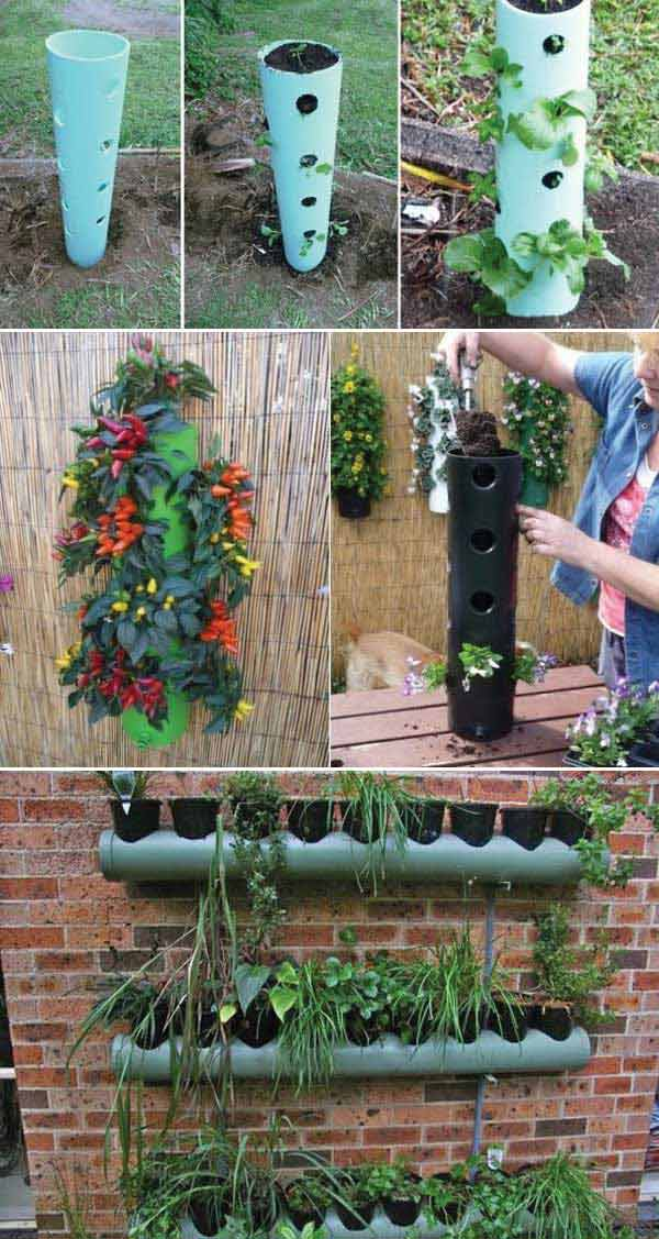 Top 20 Low-Cost DIY Gardening Projects Made With PVC Pipes DIY PVC Pipe Projects for Garden 16