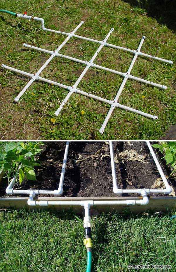 PVC Watering Grid Will Help You Become More Efficient In Watering The Garden .