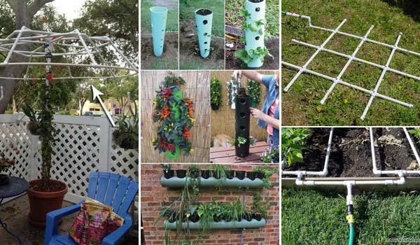 Top 20 Low-Cost DIY Gardening Projects Made With PVC Pipes DIY PVC Pipe Projects for Garden