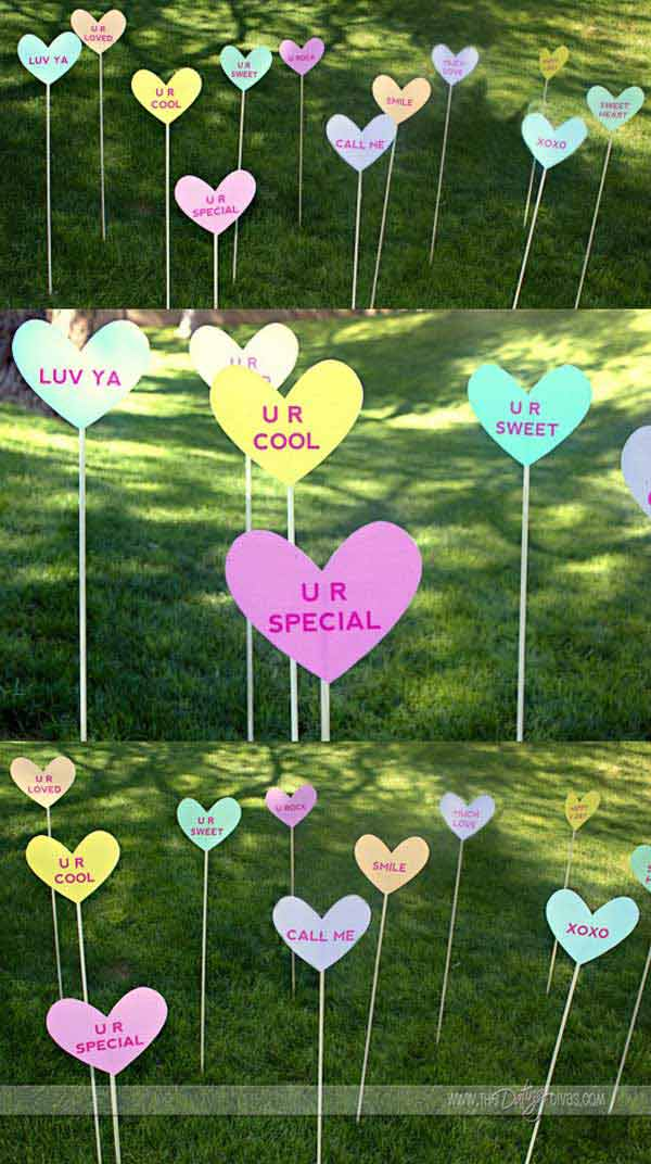 Outdoor decorating ideas with hearts for this valentines for Hearts decorations home