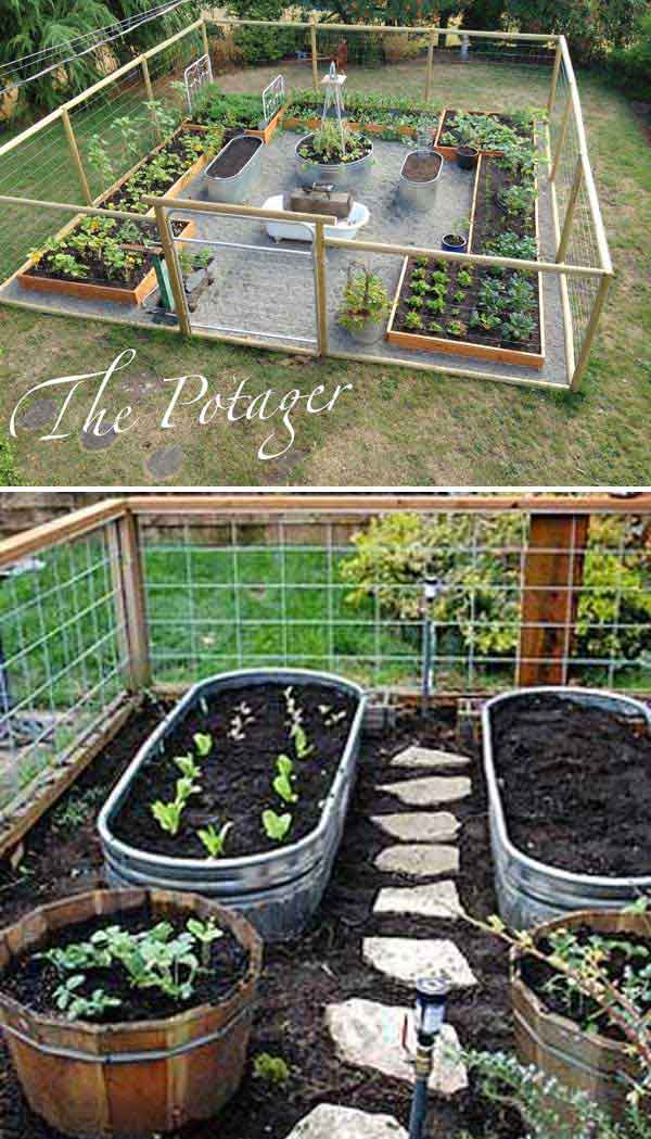 Merveilleux Use Metal Trough As Container For Vegetable Garden And Install A Path  Between Your Veggies: