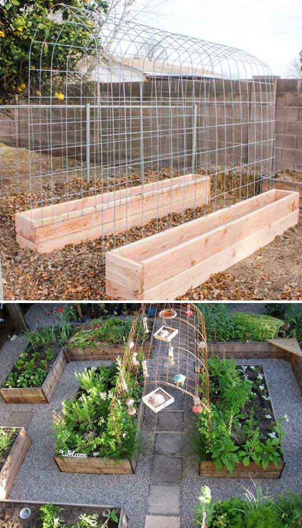 Charmant If You Are Planning To Plant Cucumbers, Melons, And Beans In Your Garden,  You Can Build A Trellis And Raised Garden Box Combo To Let Them Get Support  At ...