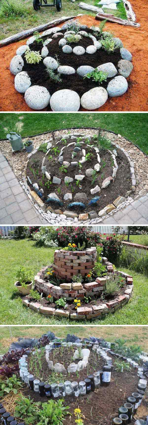 Pictures of a vegetable garden - Spiral Garden Has Very Cool Looking And Works Great For People With Limited Space