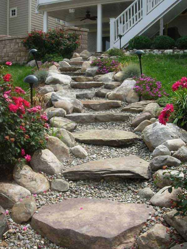 The Best 23 DIY Ideas to Make Garden Stairs and Steps ...