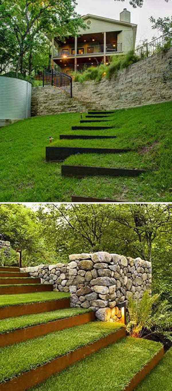 The best 23 diy ideas to make garden stairs and steps for Landscape stairs design