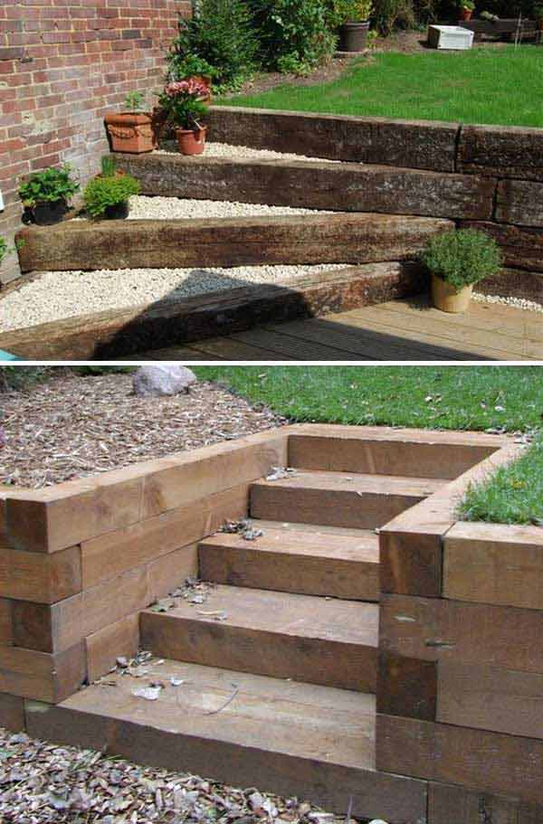 The best 23 diy ideas to make garden stairs and steps for Exterior stairs