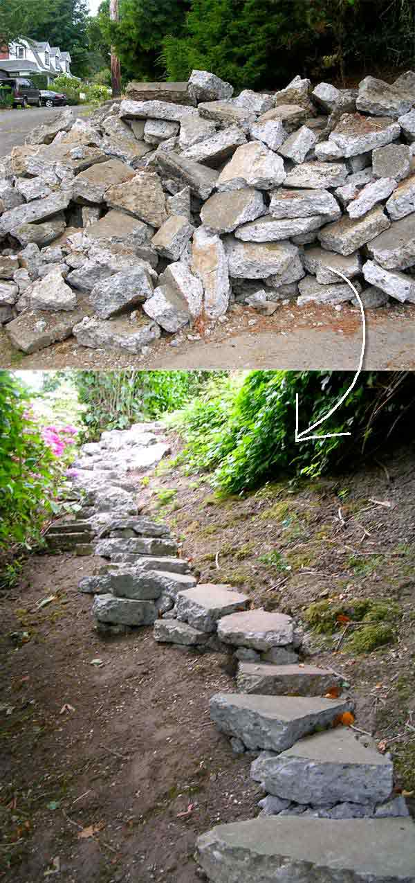 The Best 23 DIY Ideas to Make Garden Stairs and Steps - Amazing DIY ...