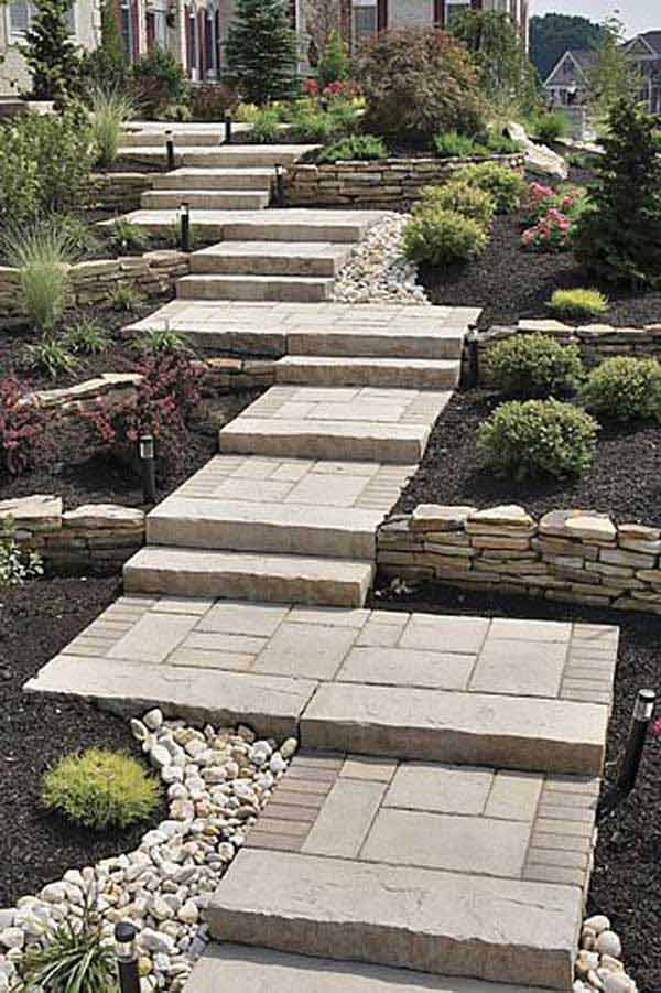 The best 23 diy ideas to make garden stairs and steps amazing diy source pavers retainingwalls workwithnaturefo