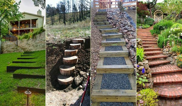 adding diy steps and stairs to your garden or yard is a great way to enhance your outdoor landscaping whether they are perfectly flat or happen to sit in a - Diy Garden Ideas