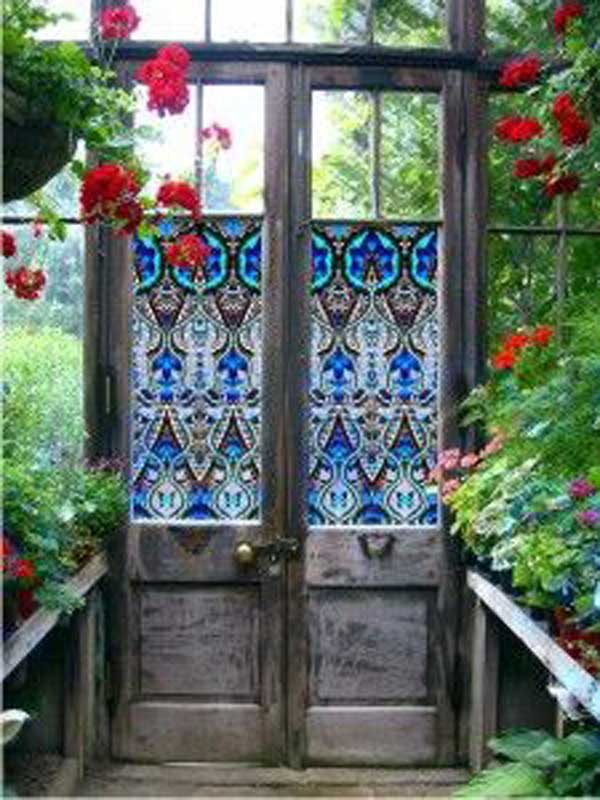 Top 34 amazing garden decor ideas in bohemian style amazing diy interior home design - Amazing stained glass fireplace screen designs with intriguing patterns ...