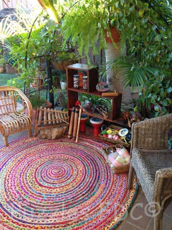 Top 34 amazing garden decor ideas in bohemian style for Garden interior design style