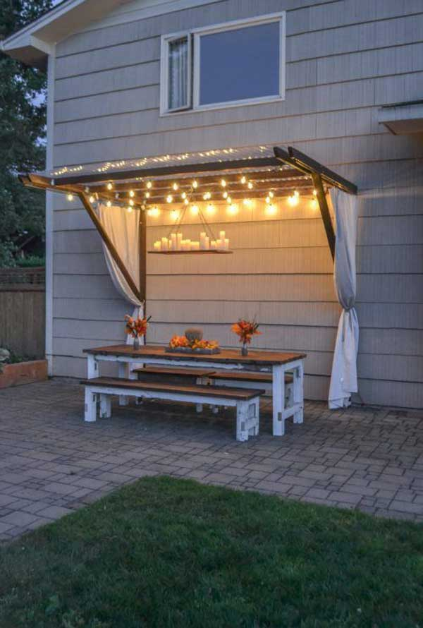 Top 28 Ideas Adding DIY Backyard Lighting for Summer ... on Diy Back Deck Ideas id=46656