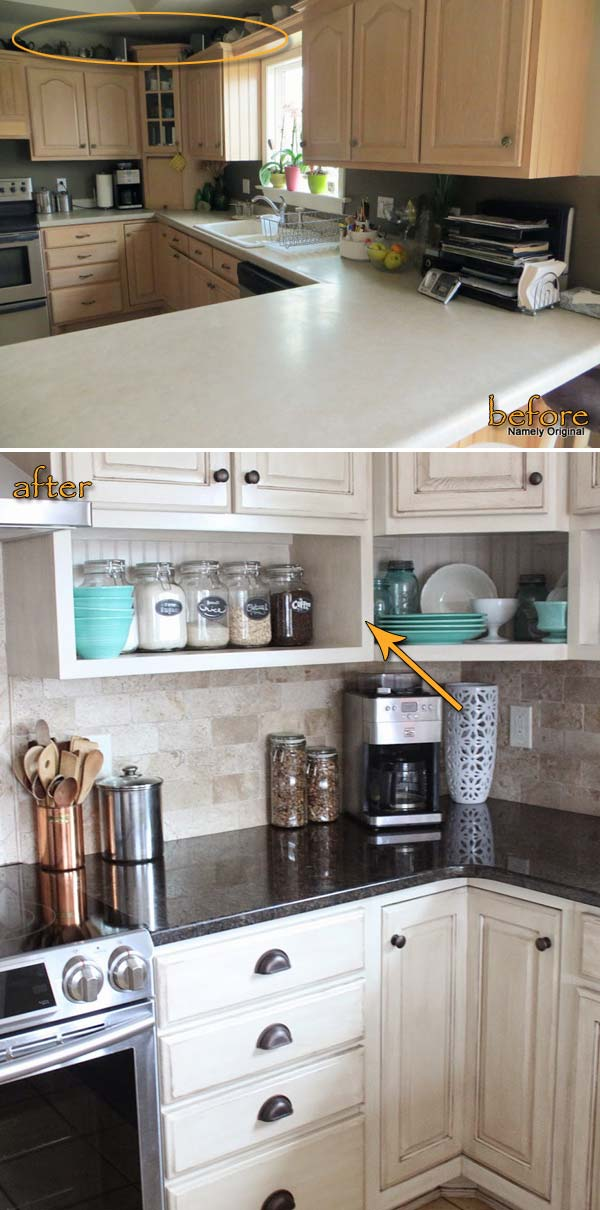 ideas-to-declutter-kitchen-counters-14 Under Kitchen Sink Storage Ideas Diy on organize under, shelf over, rustic outdoor, ledge behind, portable camping,