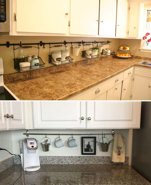 34 Best Kitchen Countertop Organizing Ideas For 2019: Top 21 Awesome Ideas To Clutter-Free Kitchen Countertops