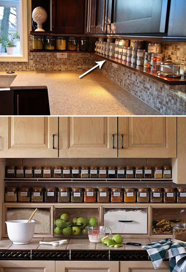 top 21 awesome ideas to clutter free kitchen countertops. Black Bedroom Furniture Sets. Home Design Ideas