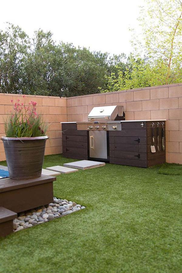 Adding a barbecue grill area to summer yard or patio for Outdoor bbq designs plans