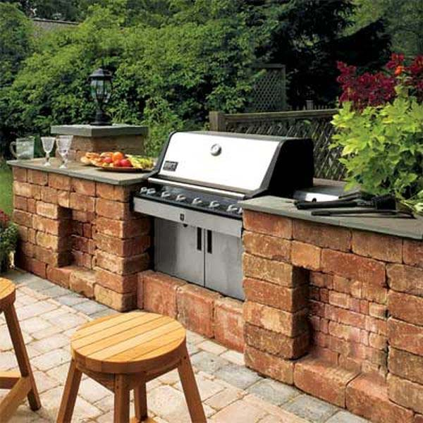 Diy Home Decorating Interior Design Idea: Adding A Barbecue Grill Area To Summer Yard Or Patio