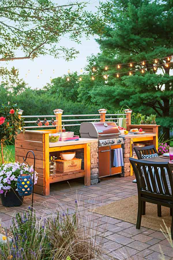 Adding a Barbecue Grill Area To Summer Yard or Patio ... on Diy Bbq Patio id=70426
