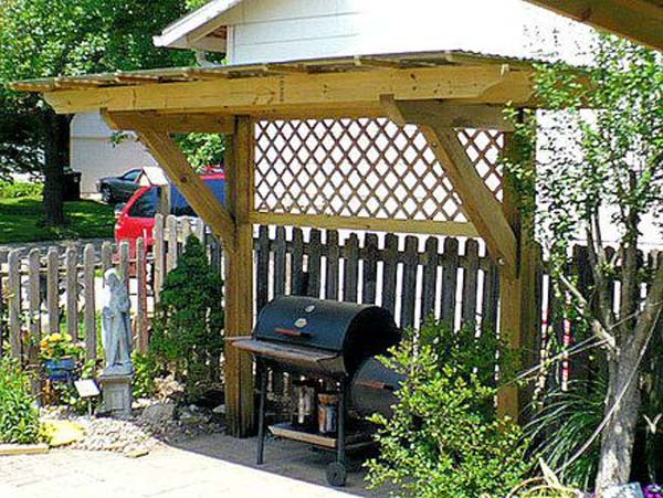 Adding a Barbecue Grill Area To Summer Yard or Patio ... on Patio Grilling Area id=87573