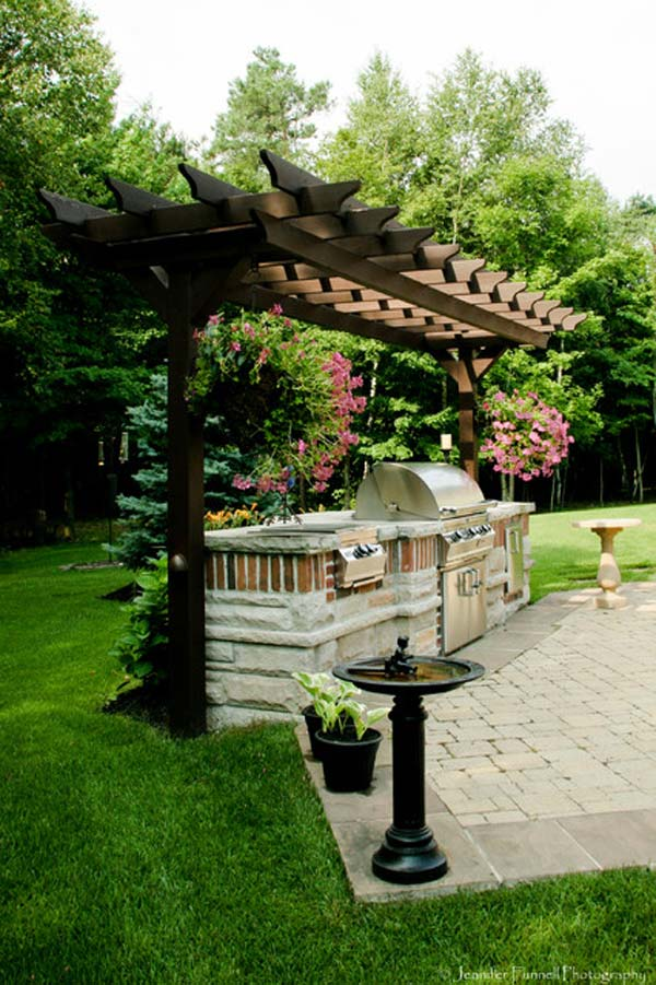 Adding a Barbecue Grill Area To Summer Yard or Patio ... on Patio Grilling Area id=75263