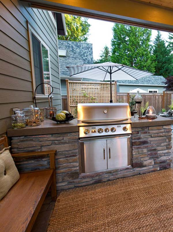 Adding a Barbecue Grill Area To Summer Yard or Patio ... on Exterior Grill Design id=22886