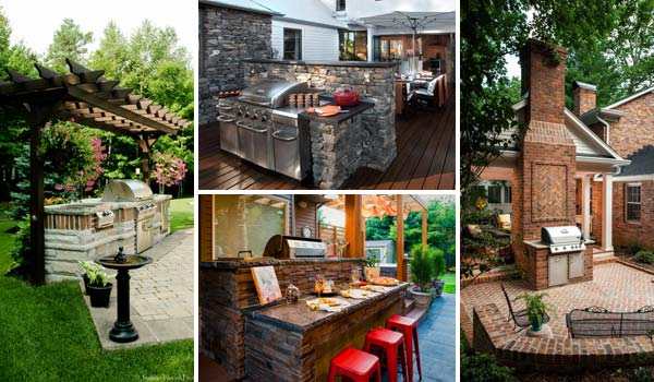Adding a Barbecue Grill Area To Summer Yard or Patio