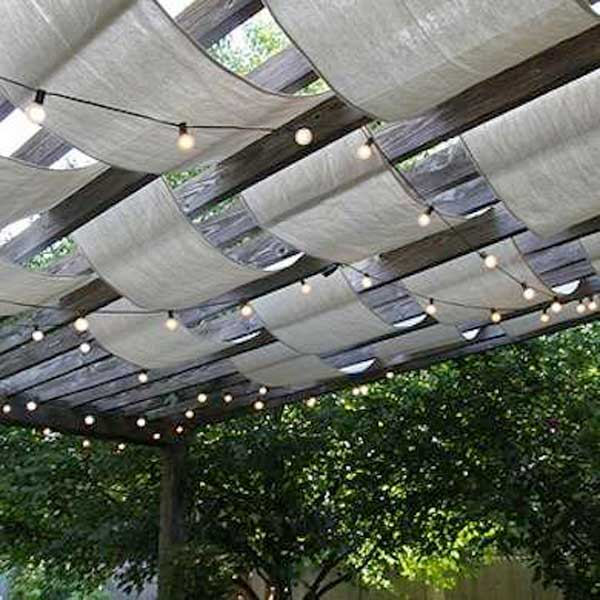 Drape Fabric Between The Beams To Create Shade In Your Deck Or Patio.