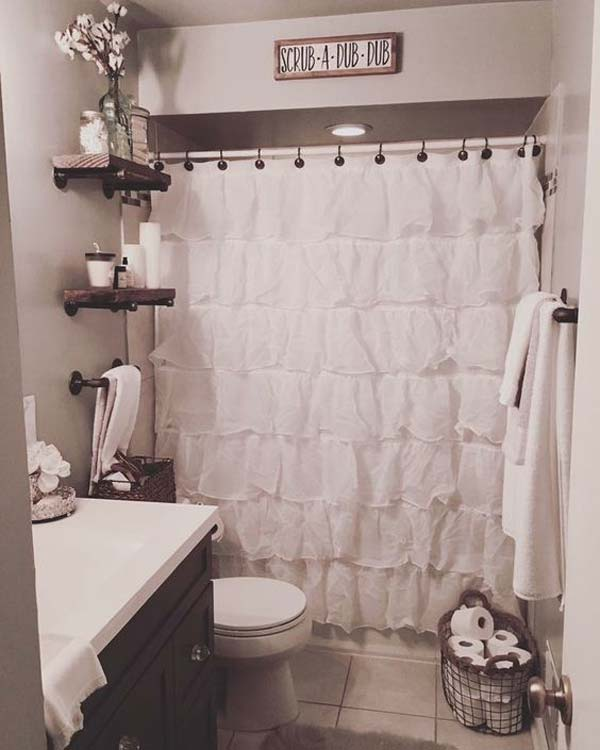 35 Awesome Small Bathroom Ideas For Apartment: 30 Awesome Ideas To Add Rustic Style To Bathroom