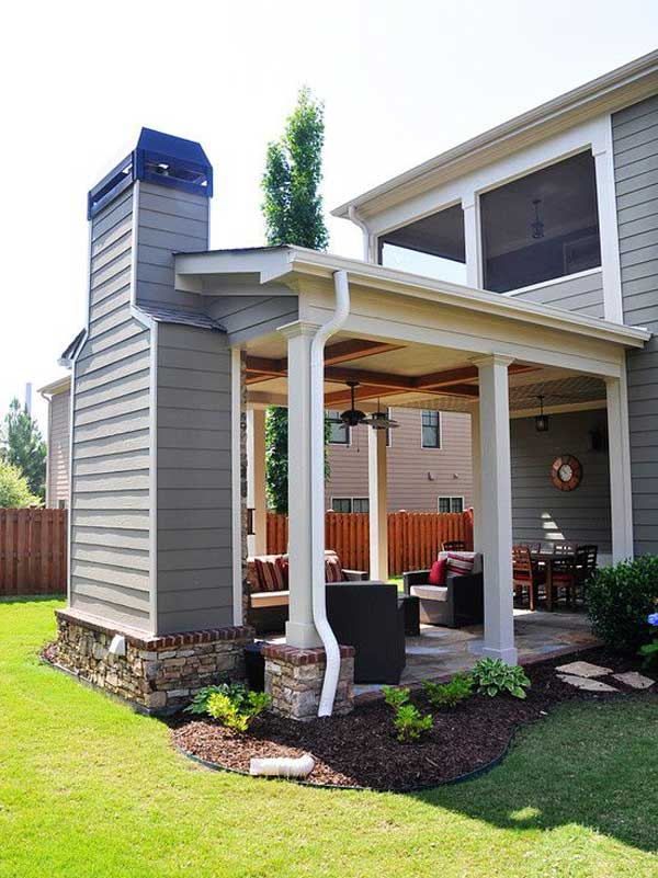 Build A Covered Patio With Fireplace To Enjoy Upcoming Fall Nights.